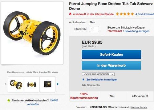 Parrot Jumping Race Drone Tuk Tuk - jetzt 25% billiger