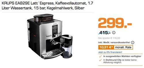 KRUPS EA829E Kaffeevollautomat Latt´Espress One-Touch-Funktion - jetzt 41% billiger