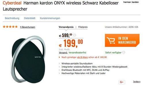 Harman/Kardon Onyx Lautsprechersystem: - jetzt 34% billiger