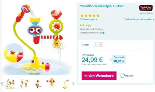 Yookidoo Wasserspiel U-Boot - jetzt 17% billiger