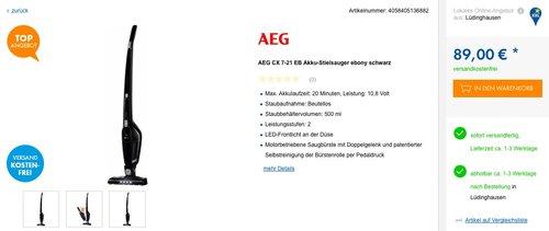 AEG CX7-21EB kabelloser 2in1 Staubsauger - jetzt 12% billiger