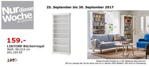 IKEA LIATORP Bücherregal, 96x214 cm, weiß - jetzt 20% billiger