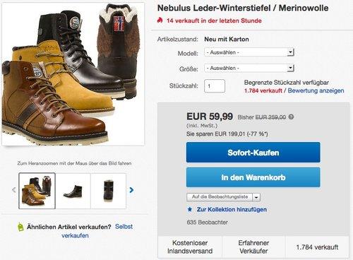 Nebulus Herren Winterboots Stiefel versch. Modelle - jetzt 25% billiger