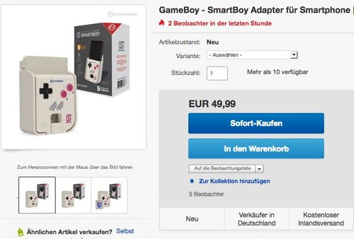 Hyperkin SmartBoy Handheld Console for Android Devices - jetzt 24% billiger