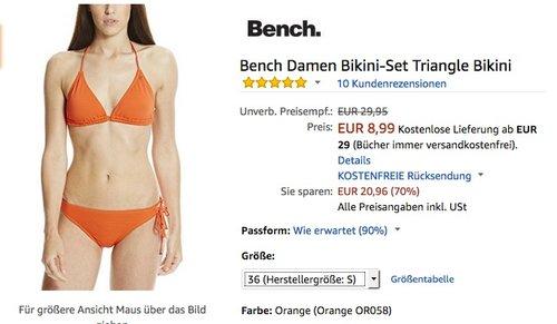 Bench Damen Bikini-Set Triangle Bikini  - jetzt 53% billiger