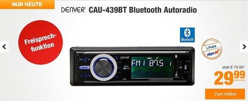 Denver CAU-439BT Auto HiFi System  - jetzt 21% billiger