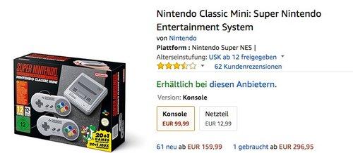 Vorbestellen Nintendo Classic Mini: Super Nintendo Entertainment System  - jetzt 38% billiger