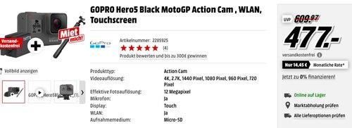GOPRO Hero5 Black  - jetzt 5% billiger