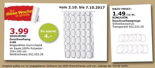 IKEA UDDGRUND Duschvorhang, 200x180 cm - jetzt 50% billiger