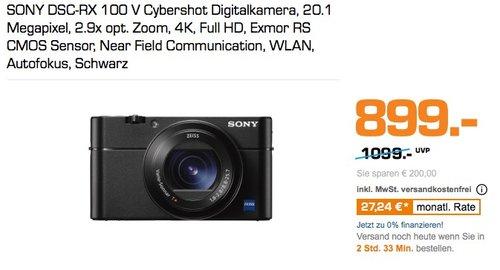 Sony DSC-RX100 V Digitalkamera - jetzt 9% billiger