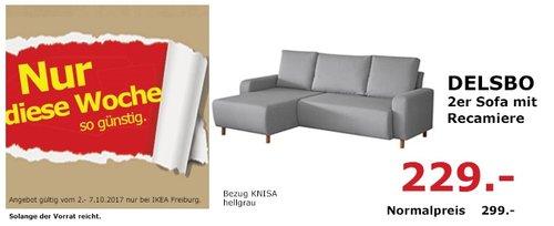 IKEA DELSBO 2er Sofa mit Repariere - jetzt 23% billiger