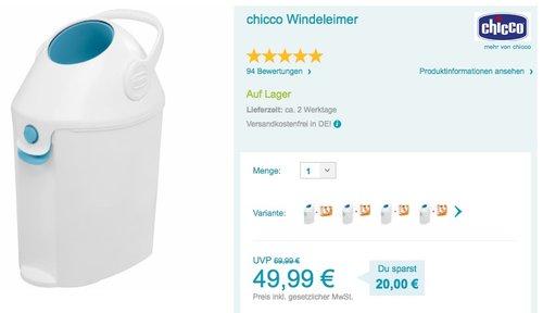 Chicco Windeleimer - jetzt 9% billiger