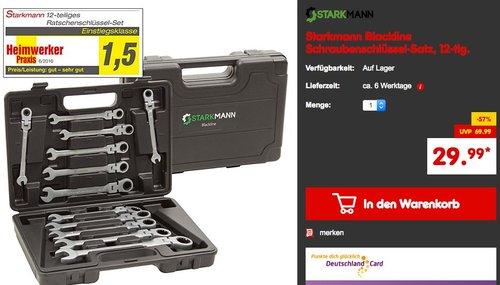 STARKMANN Blackline Werkzeug Gabelschlüssel mit Ratschenfunktion 12tlg - jetzt 30% billiger