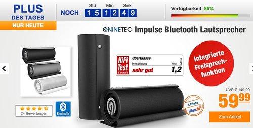NINETEC Impulse 20 Watt Bluetooth NFC AUX Speaker Lautsprecher 3D-Sound  - jetzt 40% billiger