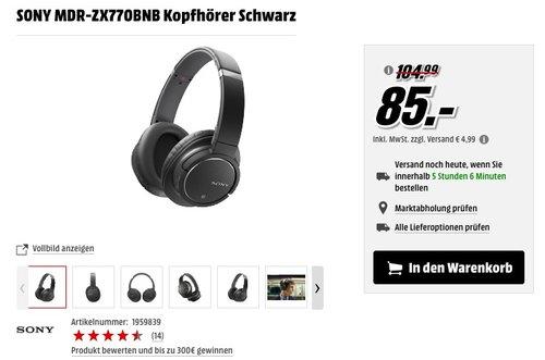 SONY MDR-ZX770BNB Kopfhörer - jetzt 14% billiger