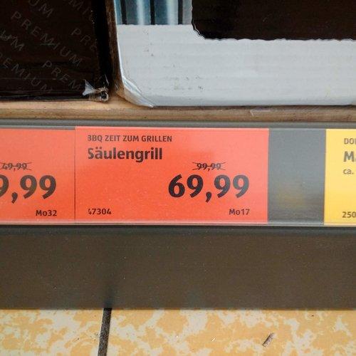 BBQ Säulengrill - jetzt 33% billiger