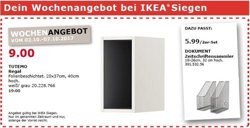 IKEA TUTEMO Regal, 20x37 cm, 40 cm hoch - jetzt 53% billiger