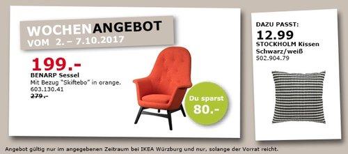 IKEA BENARP Sessel, orange - jetzt 29% billiger
