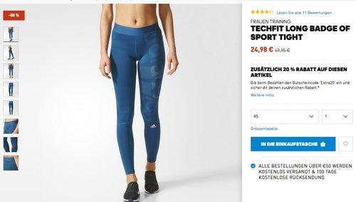 20% Rabatt auf alle bereits reduzierten Artikel bei Adidas-Onlineshop - jetzt 27% billiger