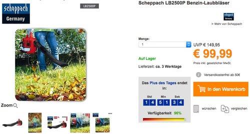 Scheppach LB2500P Benzin-Laubbläser - jetzt 21% billiger