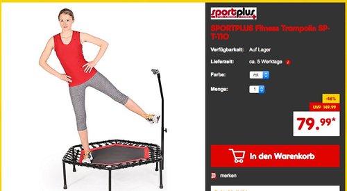 SPORTPLUS Fitness Trampolin SP-T-110 - jetzt 12% billiger