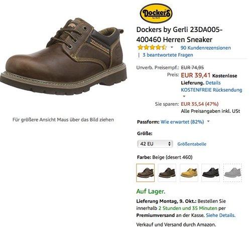 Dockers by Gerli Herren Sneaker - jetzt 34% billiger