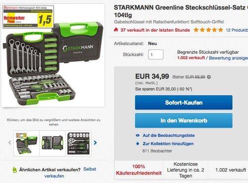 Starkmann Blackline Premium Steckschlüssel Satz 104-tlg. - jetzt 48% billiger
