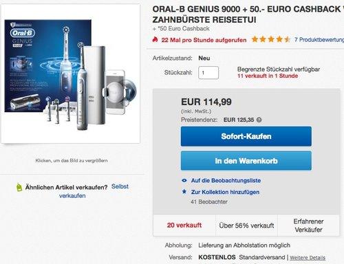 Oral-B Genius 9000 Elektrische Zahnbürste - jetzt 8% billiger