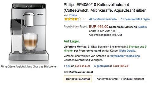 Philips EP4050/10 Kaffeevollautomat - jetzt 17% billiger