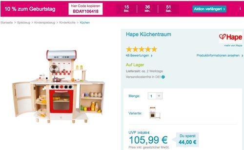 Hape Küchentraum - jetzt 10% billiger