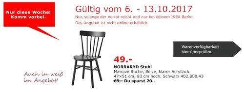 IKEA NORRARYD Stuhl, massive Buche - jetzt 29% billiger