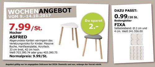 IKEA ASFRED Hocker, 33 cm breit, 42 cm hoch - jetzt 20% billiger
