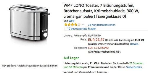 WMF LONO Toaster - jetzt 46% billiger