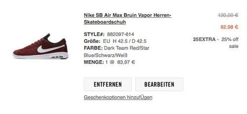 Nike SB Air Max Bruin Vapor - jetzt 35% billiger