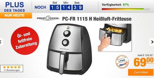 Profi Cook PC-FR 1115 H Edelstahl-Heißluft-Fritteuse 3,5 L - jetzt 8% billiger