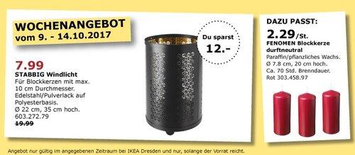 IKEA STABBIG Windlicht - jetzt 60% billiger