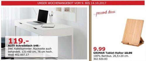IKEA ALEX Schreibtisch, 131x60 cm, 76 cm hoch - jetzt 20% billiger