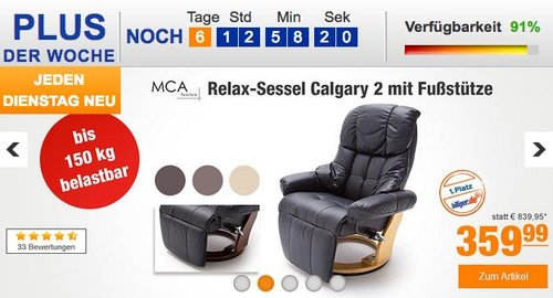 Relaxsessel Calgary 2 - jetzt 11% billiger