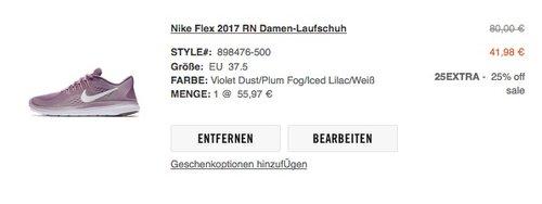 Nike Flex 2017 RN Damen-Laufschuhe - jetzt 16% billiger