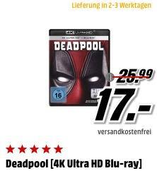 Deadpool [4K Ultra HD Blu-ray] - jetzt 35% billiger