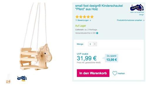 """Kinderschaukel """"Pferd"""" aus Holz - jetzt 16% billiger"""