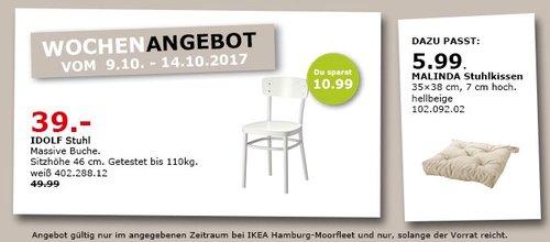 IKEA IDOLF Stuhl - jetzt 22% billiger