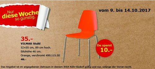 IKEA VILMAR Stuhl, orange - jetzt 22% billiger