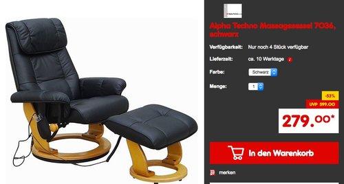 Alpha Techno Massagesessel 7036 - jetzt 7% billiger