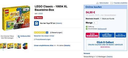 LEGO Classic 10654  Bausteine-Box - jetzt 15% billiger