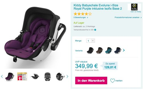 Kiddy Babyschale Evoluna i-Size  - jetzt 20% billiger