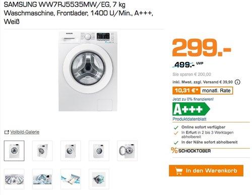 SAMSUNG WW7RJ5535MW/EG Waschmaschine - jetzt 30% billiger