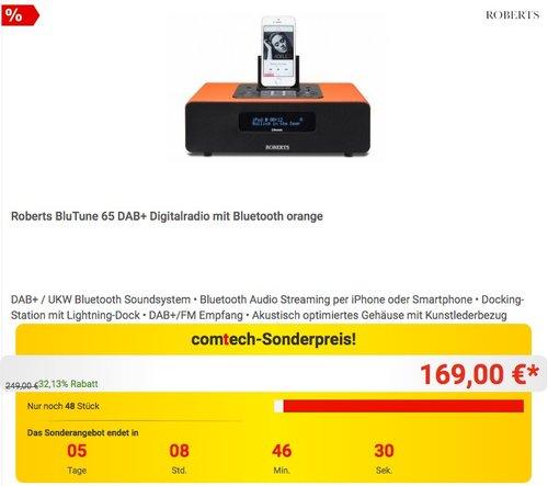 Roberts BluTune 65 DAB+ Digitalradio - jetzt 21% billiger