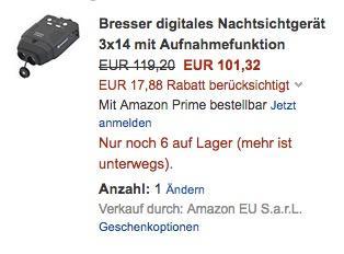 Bresser digitales Nachtsichtgerät 3x14 mit Aufnahmefunktion - jetzt 11% billiger