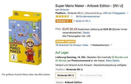 Super Mario Maker - Artbook Edition - [Wii U]  - jetzt 26% billiger
